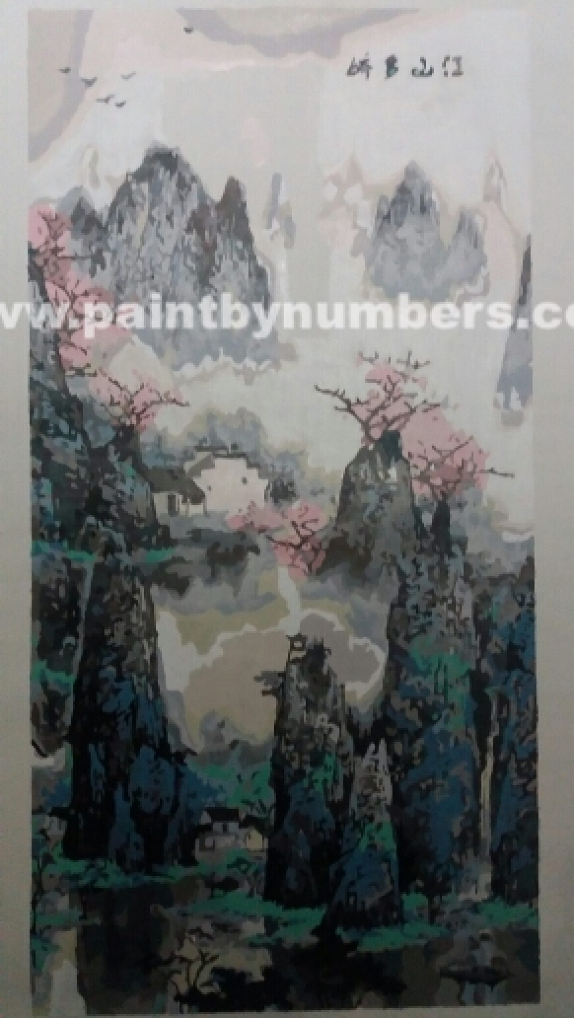 Peaceful oriental scenery (40cm x 80cm)1