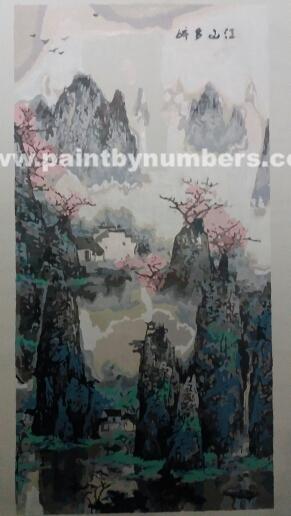 Peaceful oriental scenery (40cm x 80cm)1