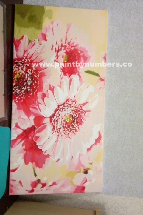 Pink Sunflowers (40cm x 80cm)2