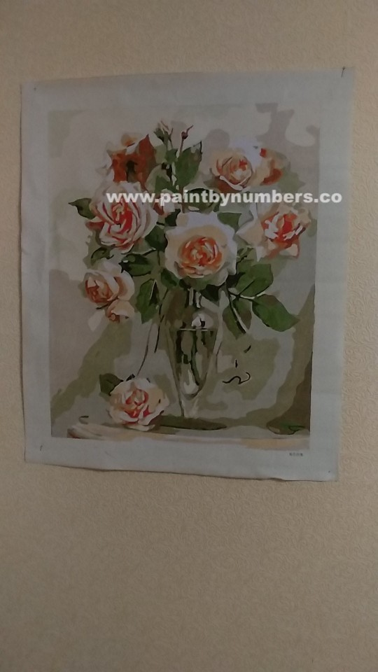 Pink roses in glass vase3