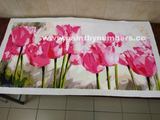 Pink tulips (50cm x 100cm)1