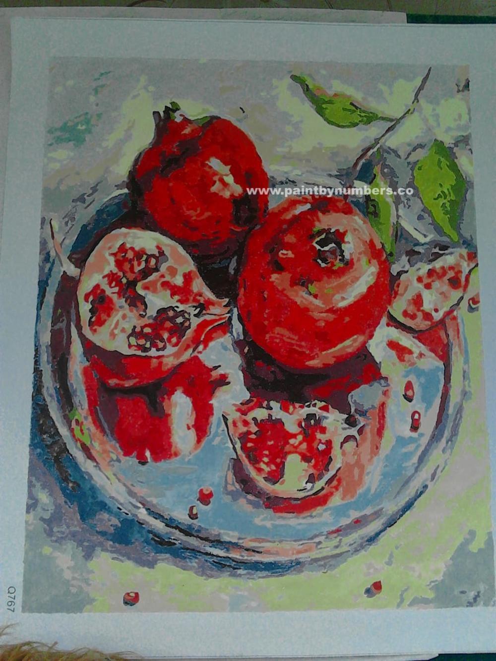 Pomegranate on Platter