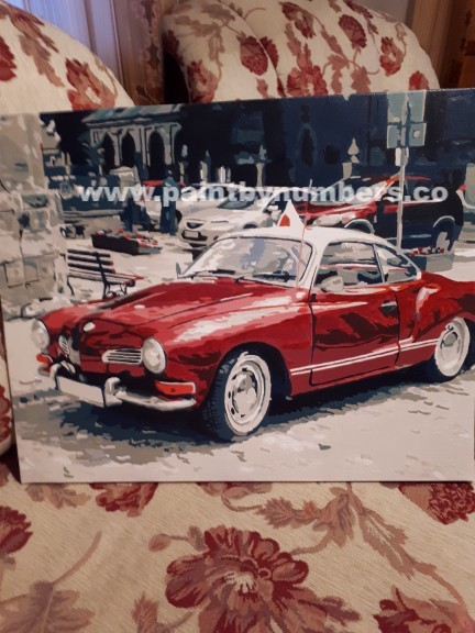 Red retro car6