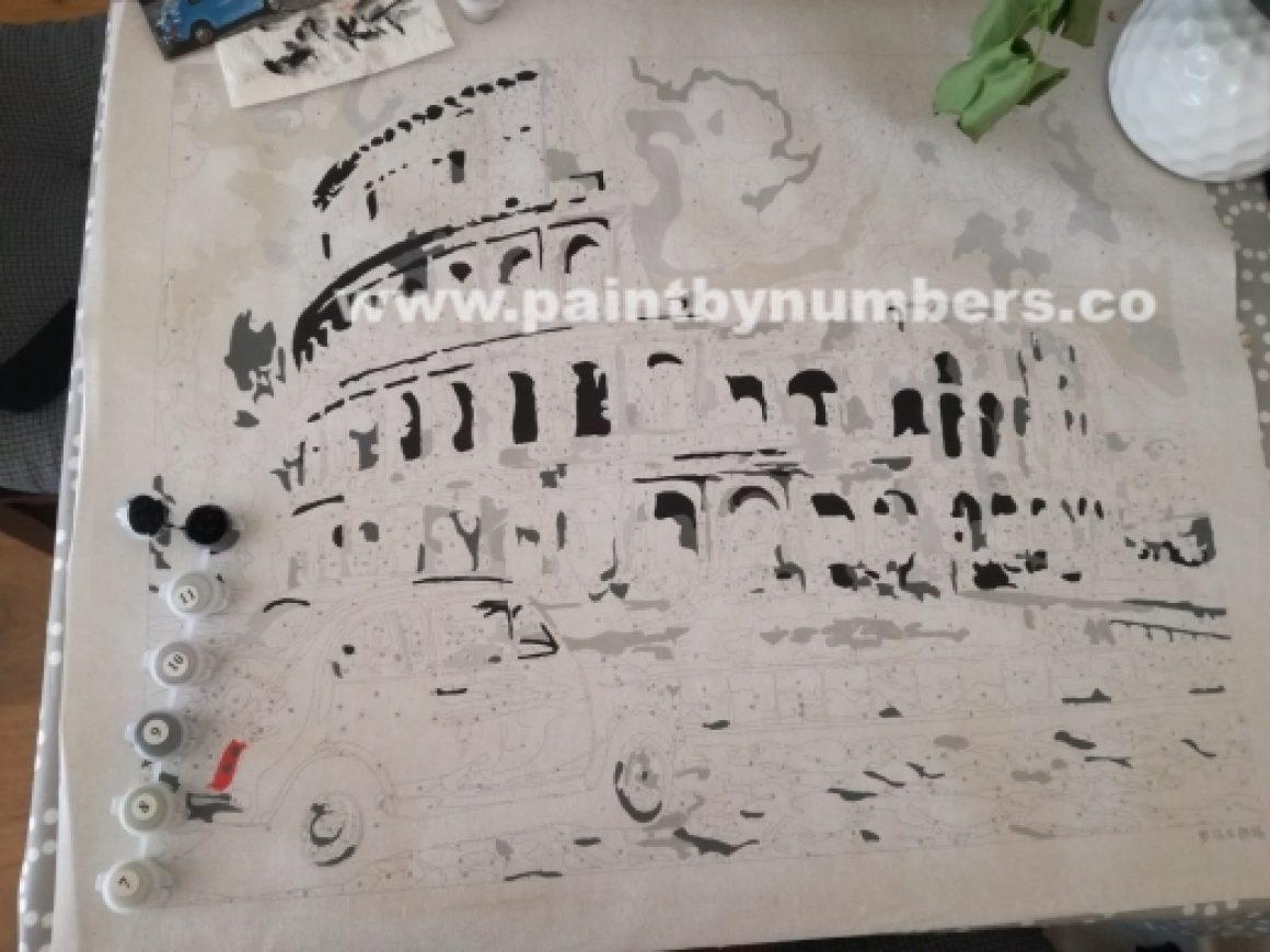 Rome Colleseum with blue car02
