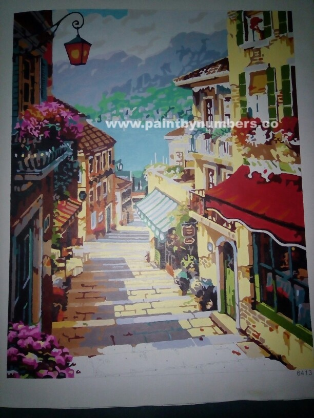 Serene village featuring a brick road1