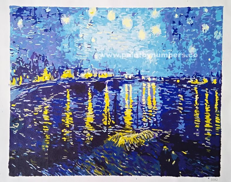 Starry Night Over the Rhone by Vincent van Gogh, 188913