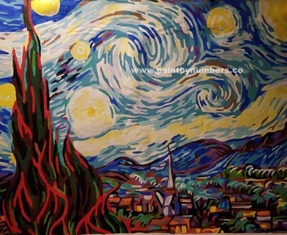 Starry Night by Vincent van Gogh, 188915