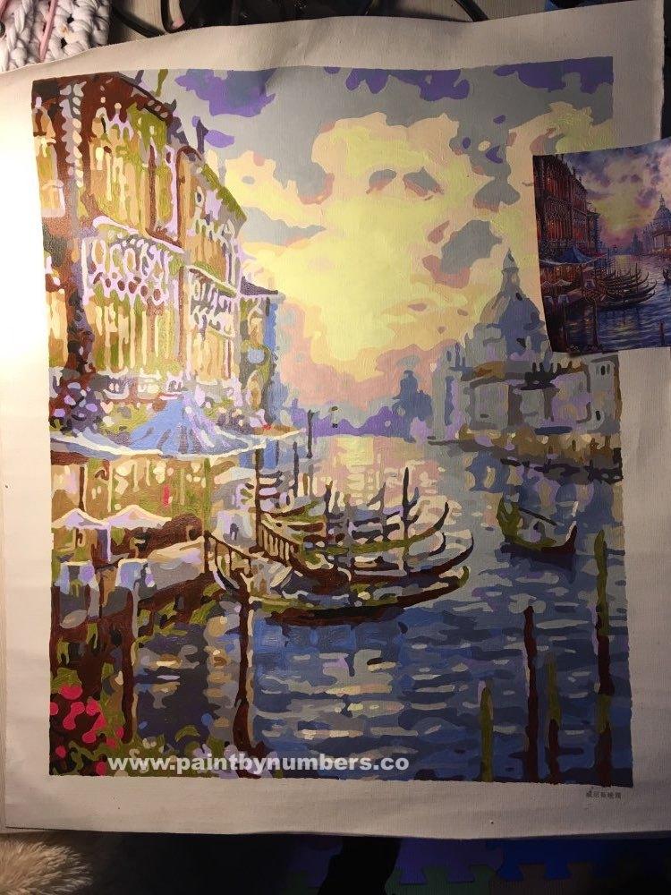 Venice at purple sunset2