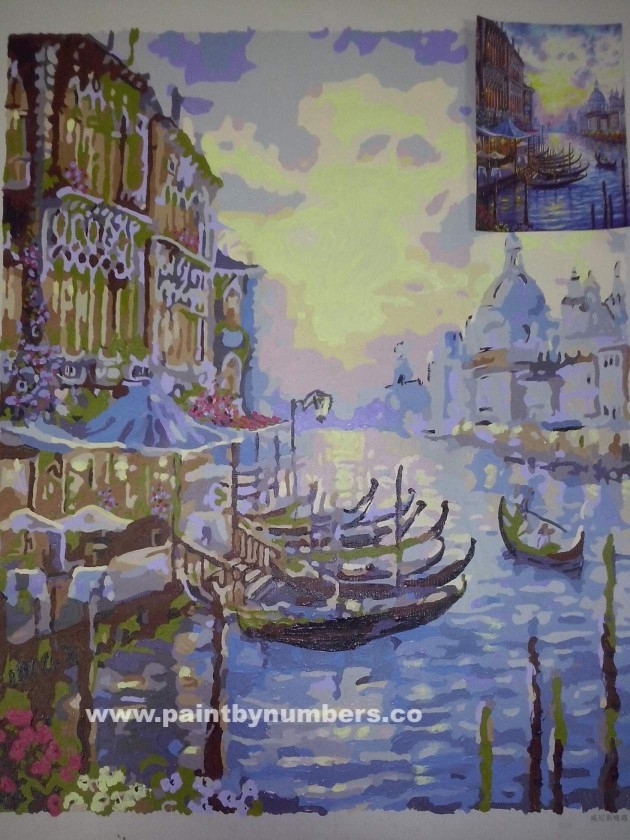 Venice at purple sunset5